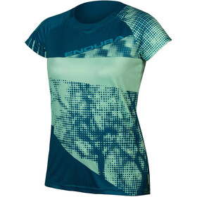 Endura SingleTrack Dots LTD Tech Tee Women kingfisher